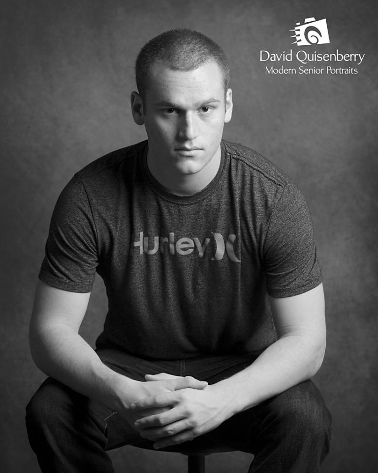 b/w senior portraits david quisenberry