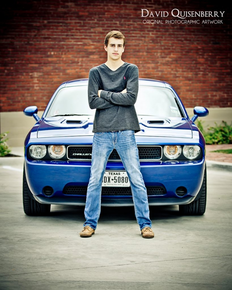 Senior pictures with car mckinney tx