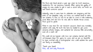 maternity and newborn photos
