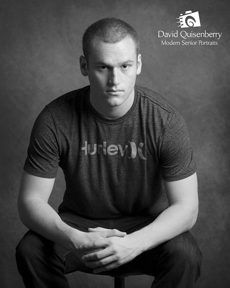 b/w senior portraits david quisenberry